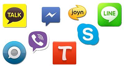 نرم افزار های پیام رسان